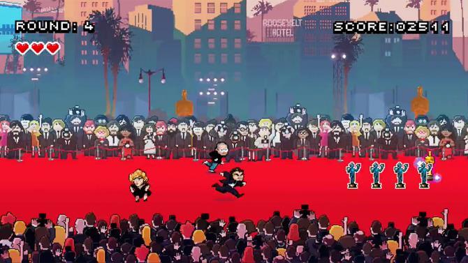 Ecco Lady Gaga in uno screen del gioco online Leo's Red Carpet Rampage