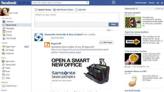 Navigazione Facebook Social