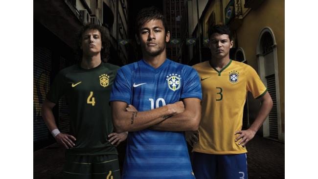Divisa della squadra del Brasile ai Mondiali 2014