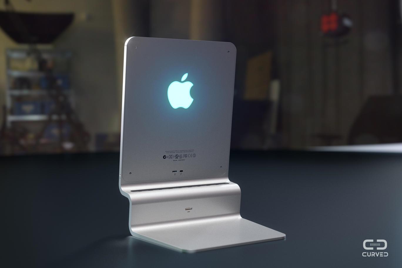 Retro del concept di Mac in alluminio