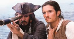 Jack Sparrow e Will Turner in Pirati dei Caraibi