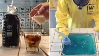 L'interno del bar a tema Breaking Bad