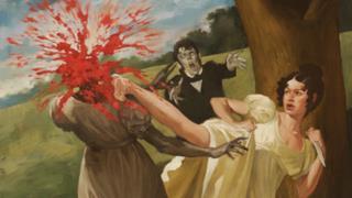 Un'illustrazione di Orgoglio e Pregiudizio e Zombie