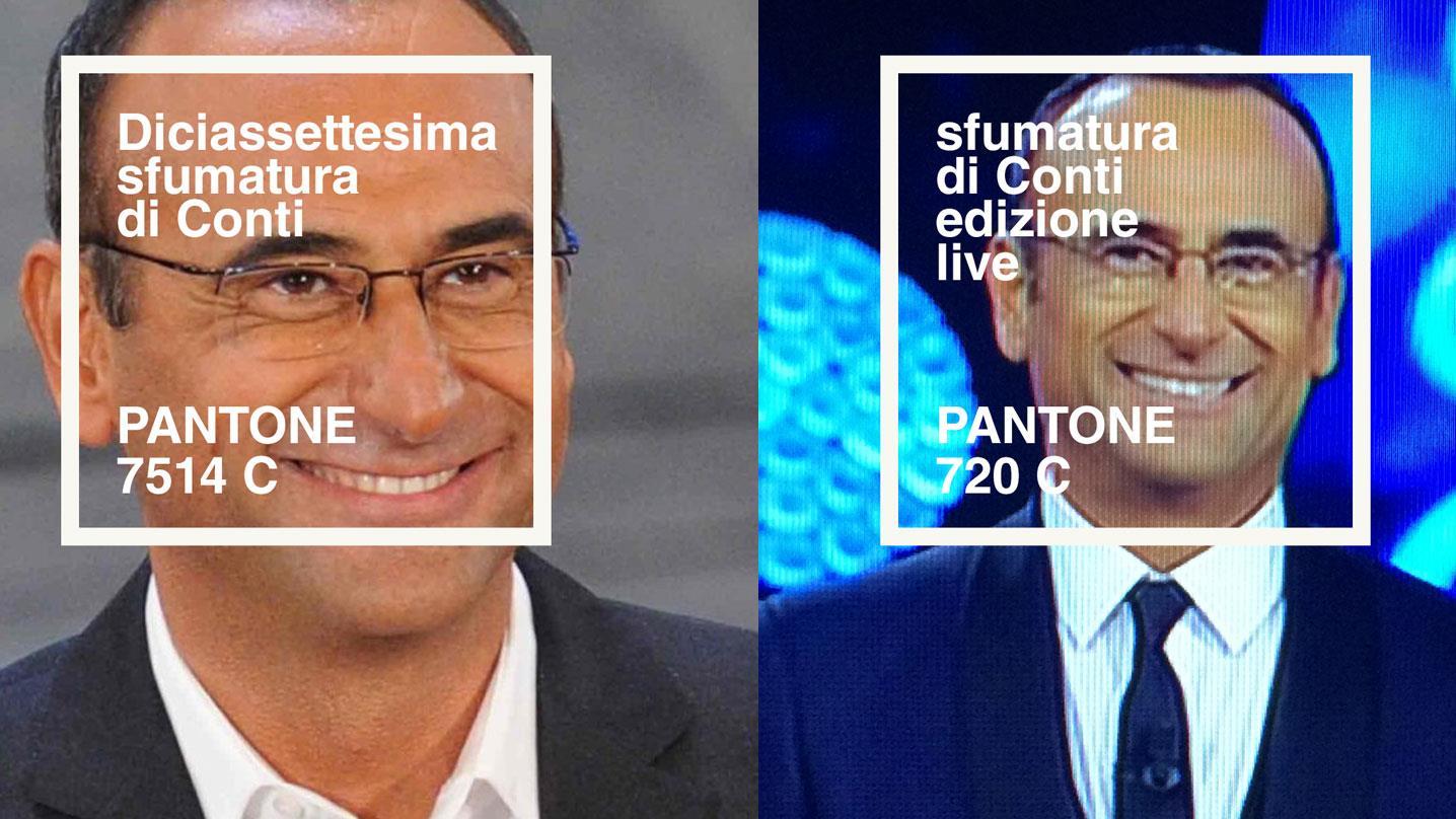 50 Sfumature di Conti: Pantone 7514 C ed edizione live sanremese