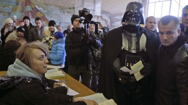 Darth Vader si presenta alle elezioni in Ucraina