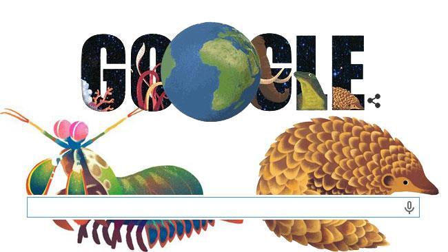 Google Doodle Giornata della Terra e gli animali dei risultati