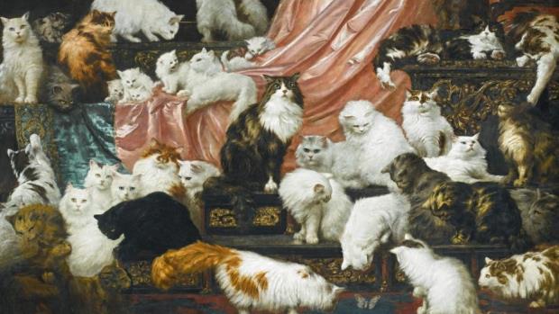 My Wife's Lovers: l'opera raffigurante 42 gattini