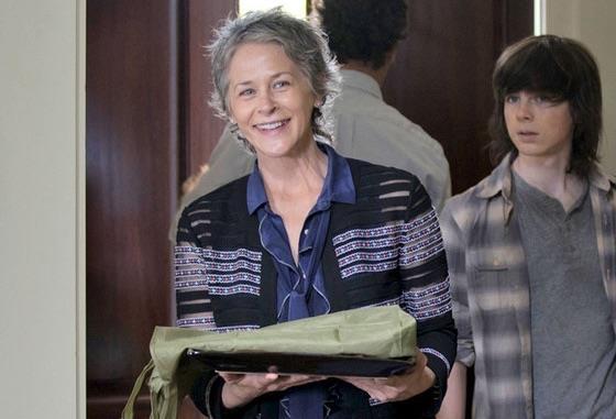 Carol di The Walking Dead con i suoi biscotti