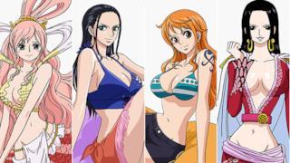 Nami, Robin, Hancock e Shirahoshi di One Piece