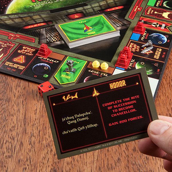 Le carte del Monopoly in Klingon