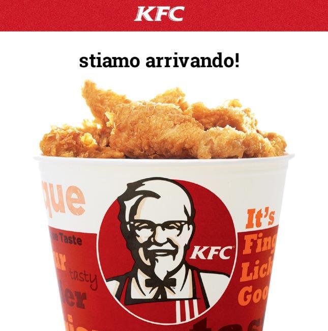 Pagina di benvenuto del sito italiano di KFC