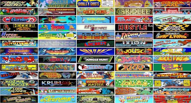 Alcuni dei titoli disponibili su The Internet Arcade