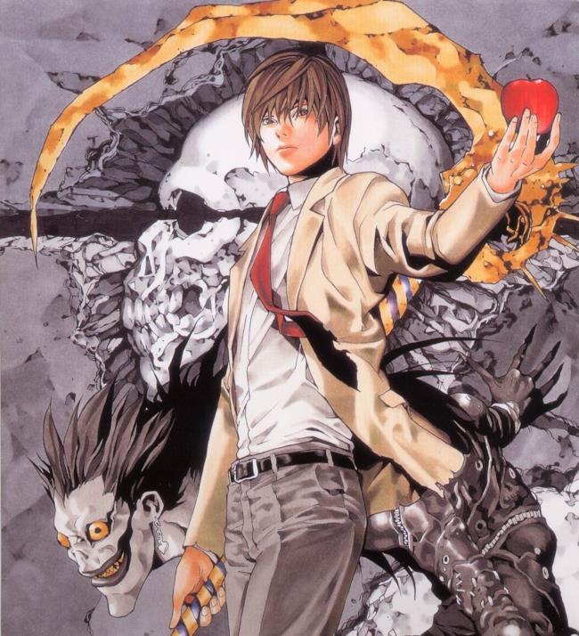 Il protagonista di Death Note, Light Yagami e il suo shinigami