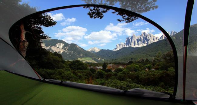 Panorama dalla tenda sospesa Tentsile
