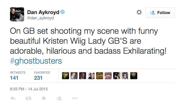 Dan Aykroyd conferma il suo cameo nel reboot di Ghostbusters