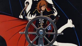 Captain Harlock alla guida della sua nave pirata