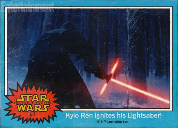 Il cattivo Kylo Ren in Star Wars 7 con la sua spada rossa