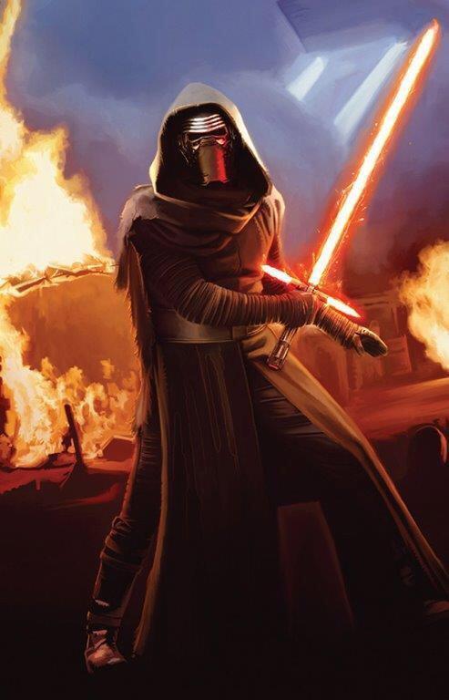 Kylo Ren mostra la sua spada in Star Wars 7