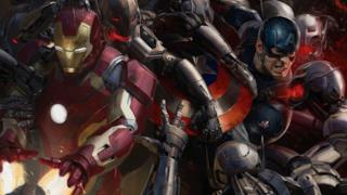 Iron Man e Capitan America in una concept art di Avengers: Age of Ultron