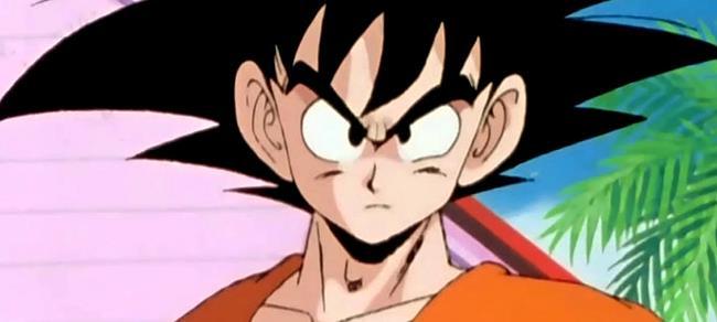 Son Goku in una delle prime scene di Dragon Ball Z