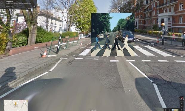 Copertina Abbey Road dei Beatles
