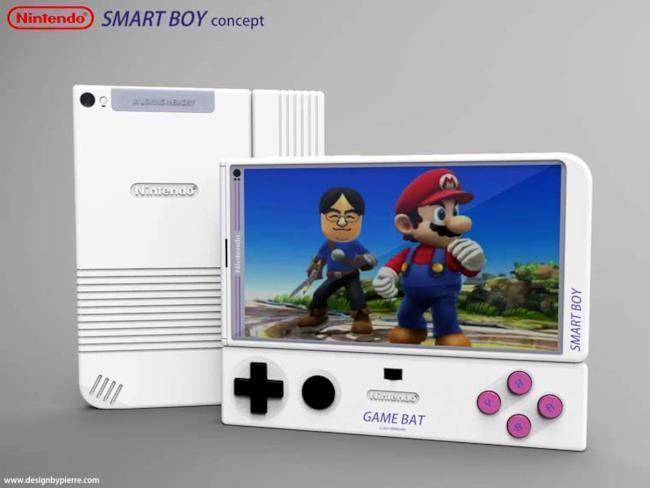 Game Bat e Smart Boy in una concept art