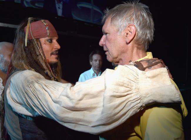 Jack Sparrow e Han Solo sul palco della D23 EXPO