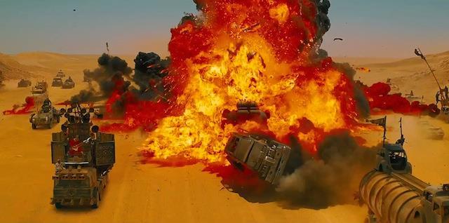 Le esplosioni sono una parte importante di Mad Max: Fury Road