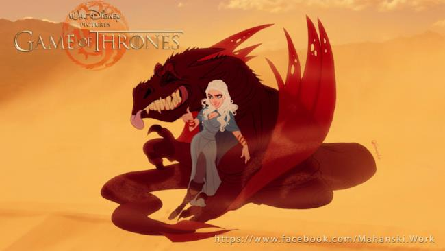 Daenerys Targaryen se fosse in un Film Disney