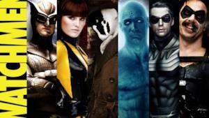 I personaggi di Watchmen in un'immagine tratta dal film