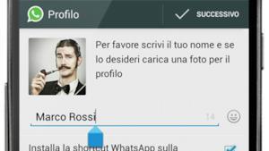 Schermata su smartphone dove è possibile cambiare la foto del proprio profilo