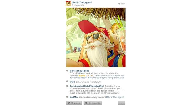 Foto che Merlino potrebbe postare su Instagram