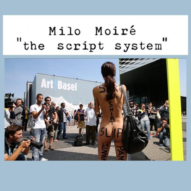 Copertina della performance di Milo Moiré intitolata the Script System