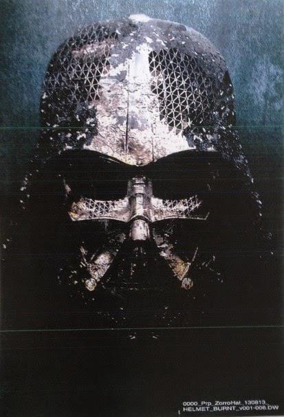Darth Vader, concept art dell'elmo