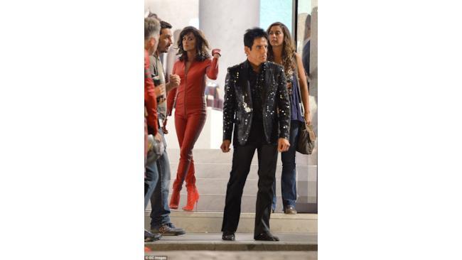 Penélope Cruz e Ben Stiller sul set di Zoolander 2