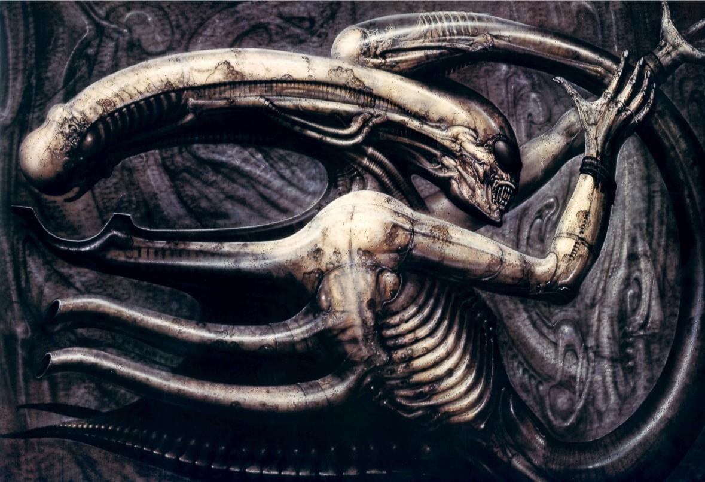 Illustrazione Necronom IV di H.R. Giger