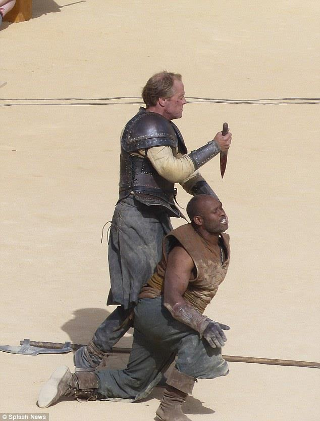 Jorah Mormont nella stagione 5 di Game of Thrones