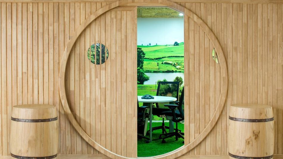 La camera dell'ufficio a tema Signore degli Anelli chiamata Shire