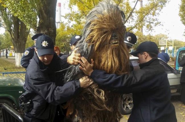 Chewbacca arrestato in Ucraina