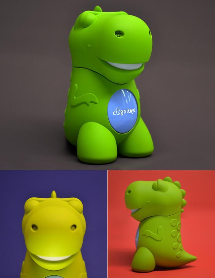 Il prototipo del dinosauro verde di CogniToys