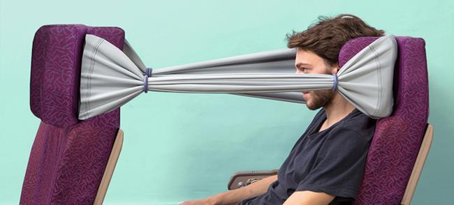 Banda elastica salva-privacy sugli aerei