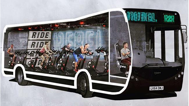 Tieniti in forma rientrando dal lavoro con l'autobus palestra