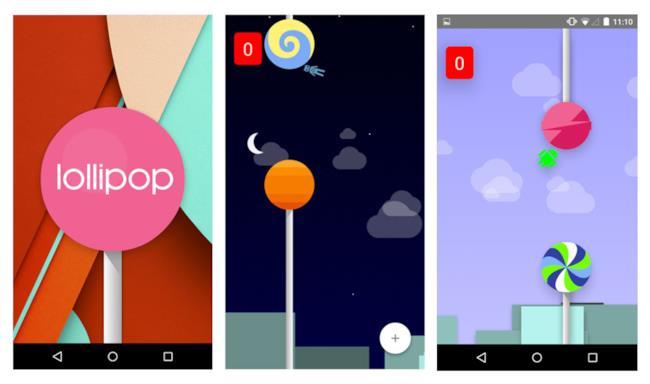 Alcune schermate del gioco Android Lollipop