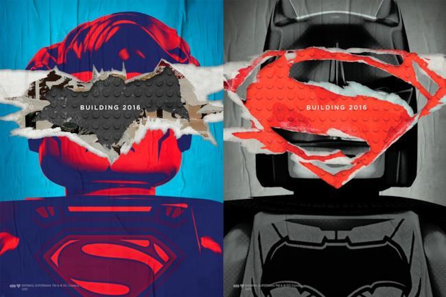 Il poster del playset LEGO di Batman v Superman