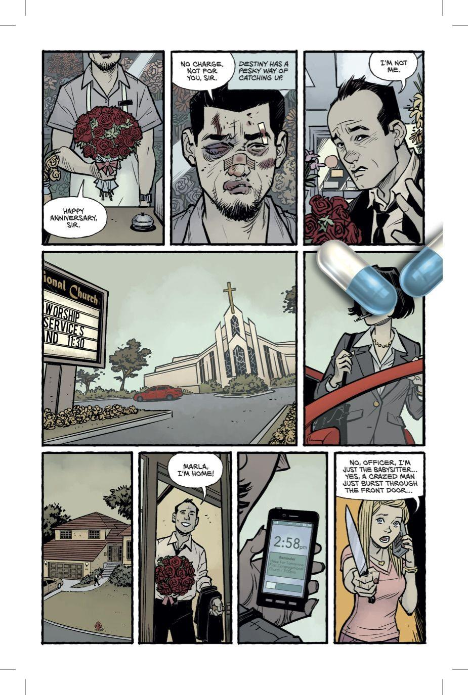 la seconda pagina del fumetto Fight Club 2
