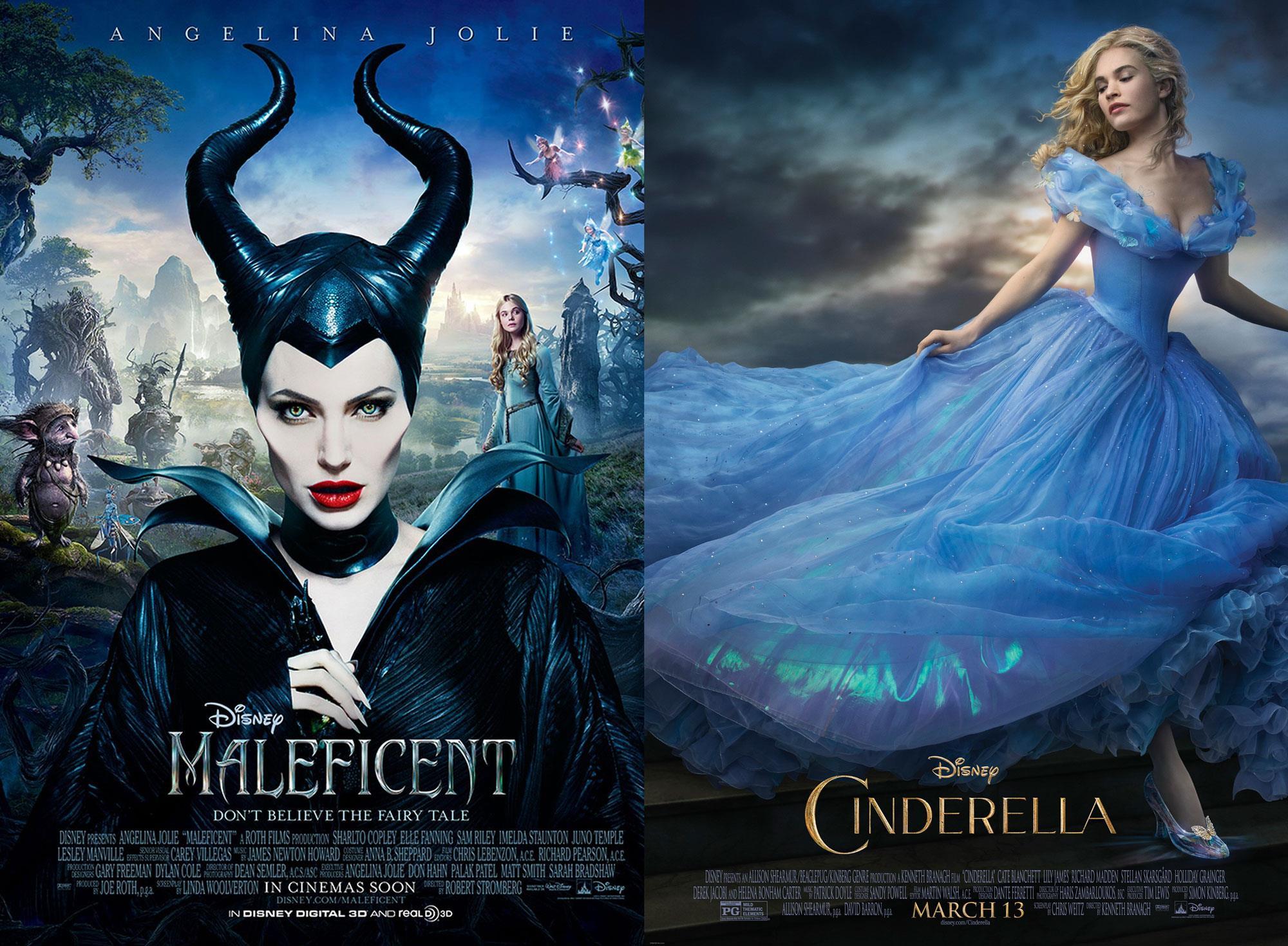Le locandine di Maleficent e Cinderella