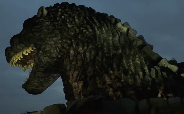 Testa di Godzilla a Tokyo