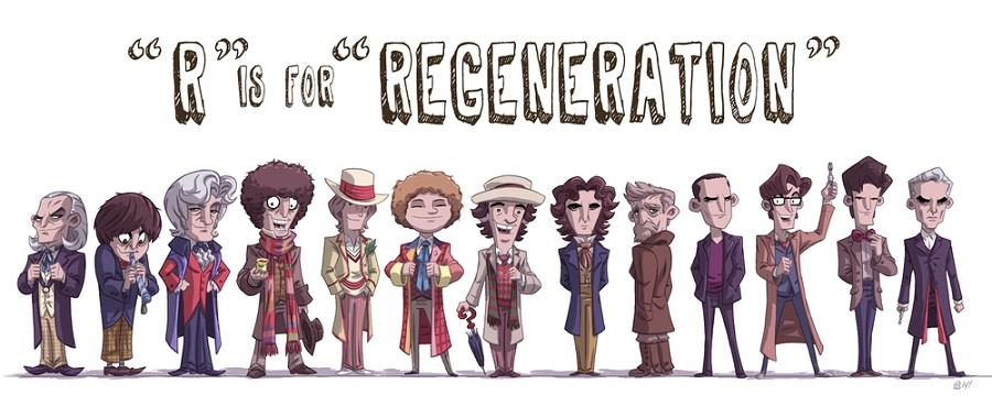 Tutte le versioni del Dottore dal 1963 ai giorni nostri