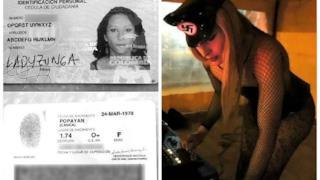 Documenti della donna colombiana che si chiama ABCDEFGHIJKLMN OPQRSTUVWXYZ