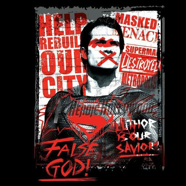 Il graffiti poster di Superman per Dawn of Justice